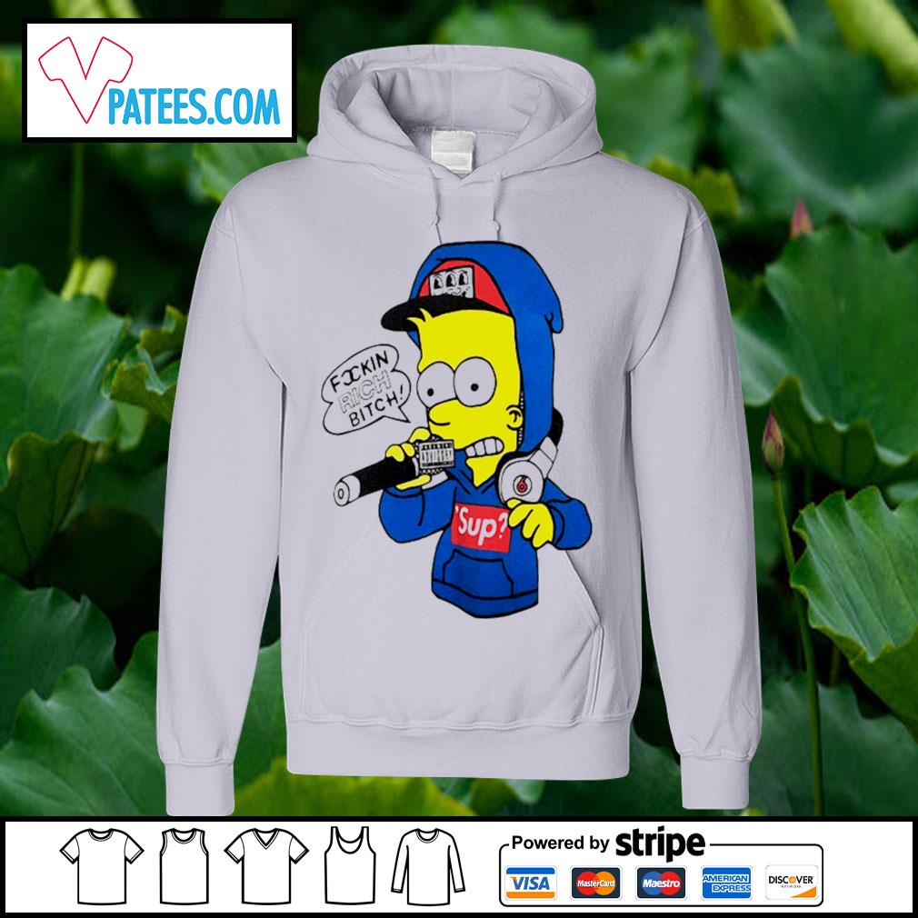 Bart Simpsons rich bitch sup s hoodie
