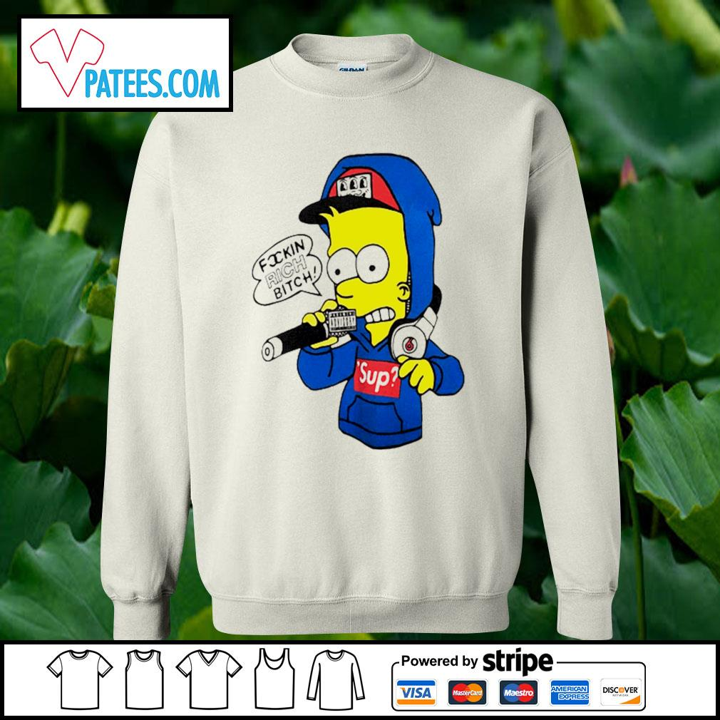 Bart Simpsons rich bitch sup s sweater