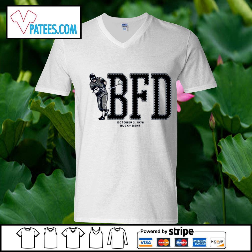 BFD October 2 1978 bucky dent s v-neck t-shirt
