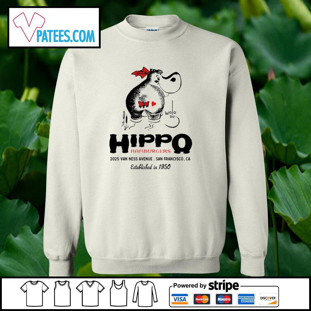 Hippo hamburgers 2025 van ness avenue San Francisco s sweater