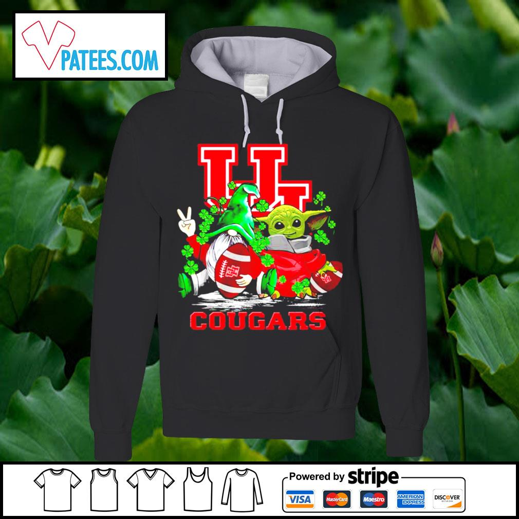 St.Patrick's day Gnome and Baby Yoda Houston Cougars s hoodie