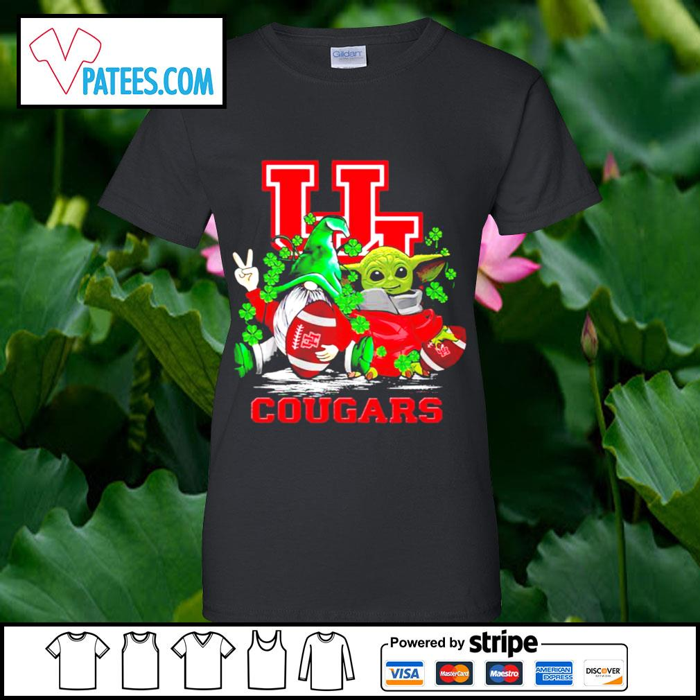 St.Patrick's day Gnome and Baby Yoda Houston Cougars s ladies-tee