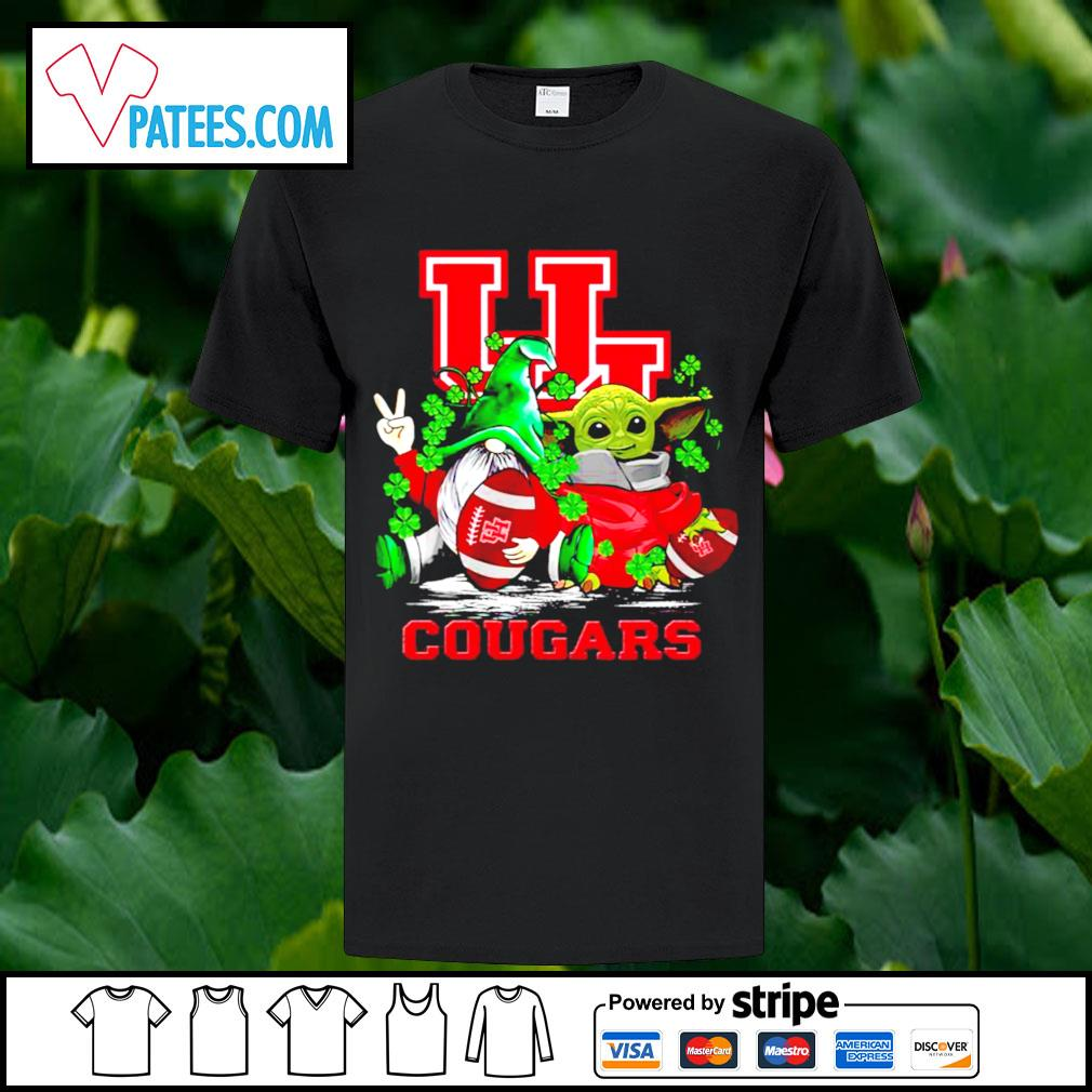 St.Patrick's day Gnome and Baby Yoda Houston Cougars shirt