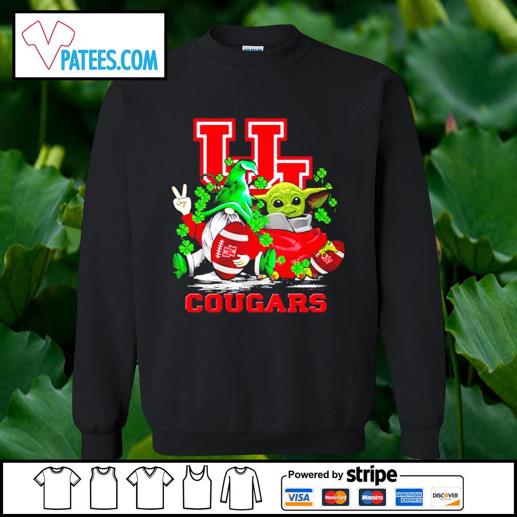 St.Patrick's day Gnome and Baby Yoda Houston Cougars s sweater