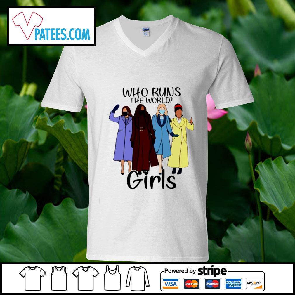 Who runs the world girls s v-neck t-shirt