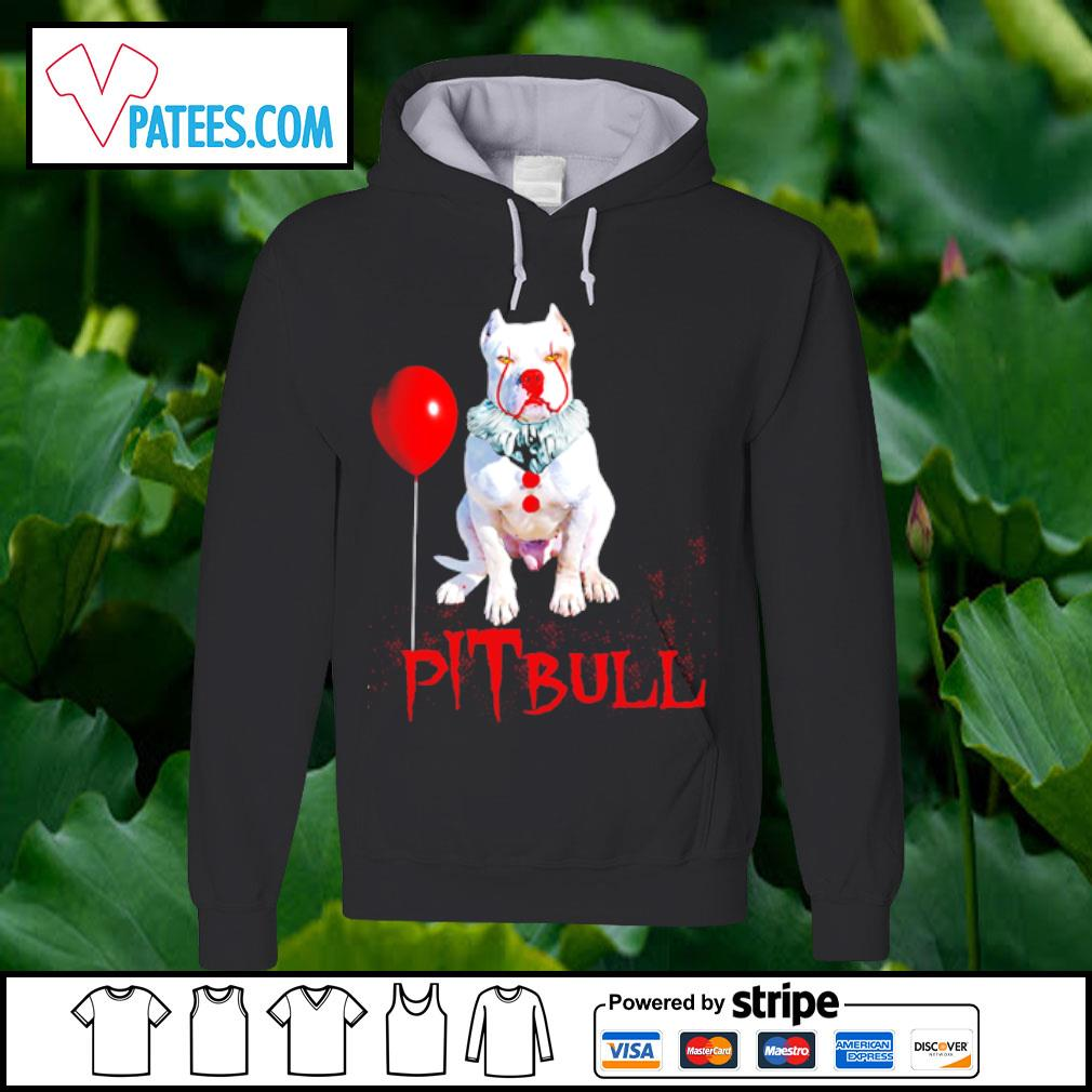 Pitbull IT clown Halloween s hoodie