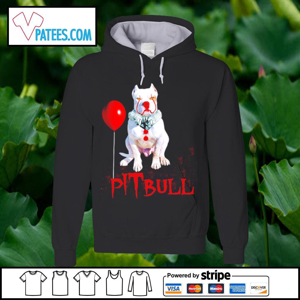 Pitbull IT clown Halloween s hoodie