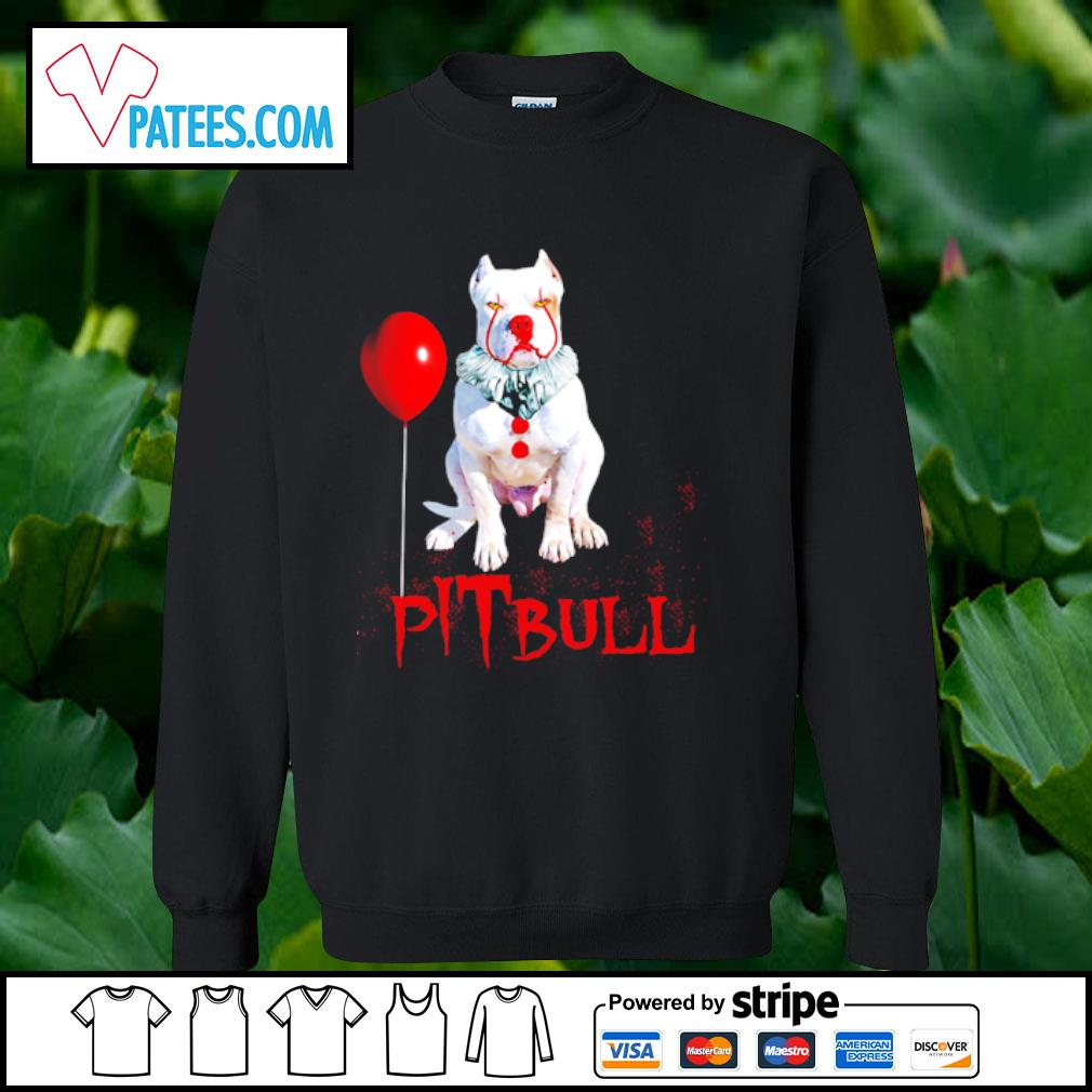Pitbull IT clown Halloween s sweater