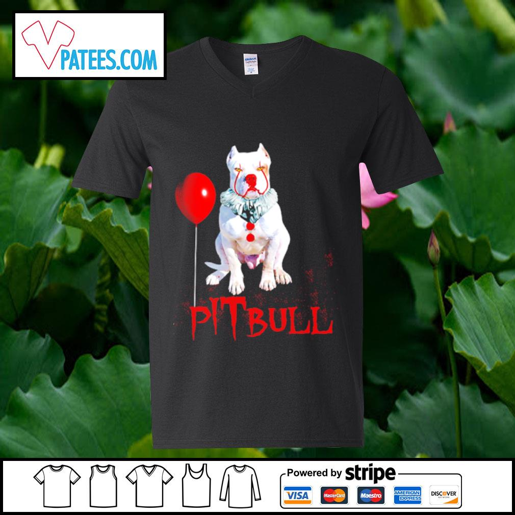 Pitbull IT clown Halloween s v-neck t-shirt