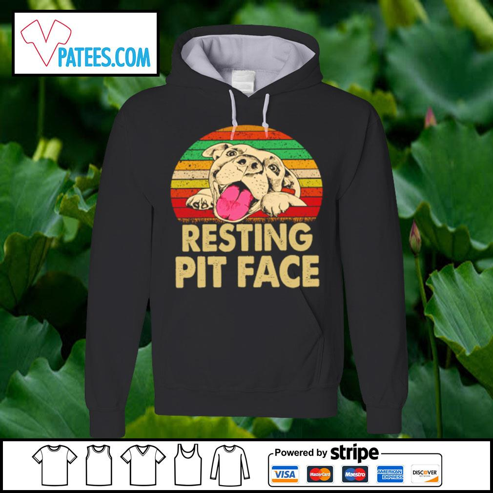 Pitbull resting pit face s hoodie