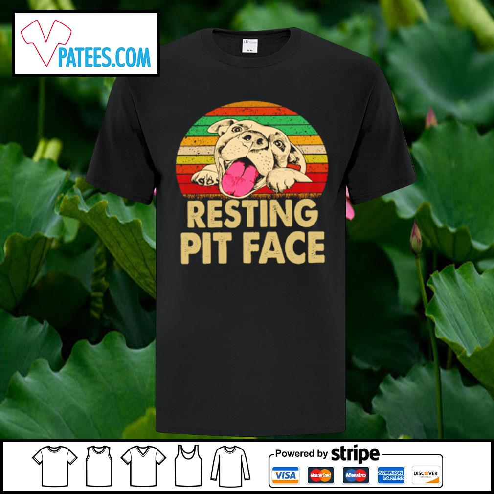 Pitbull resting pit face shirt