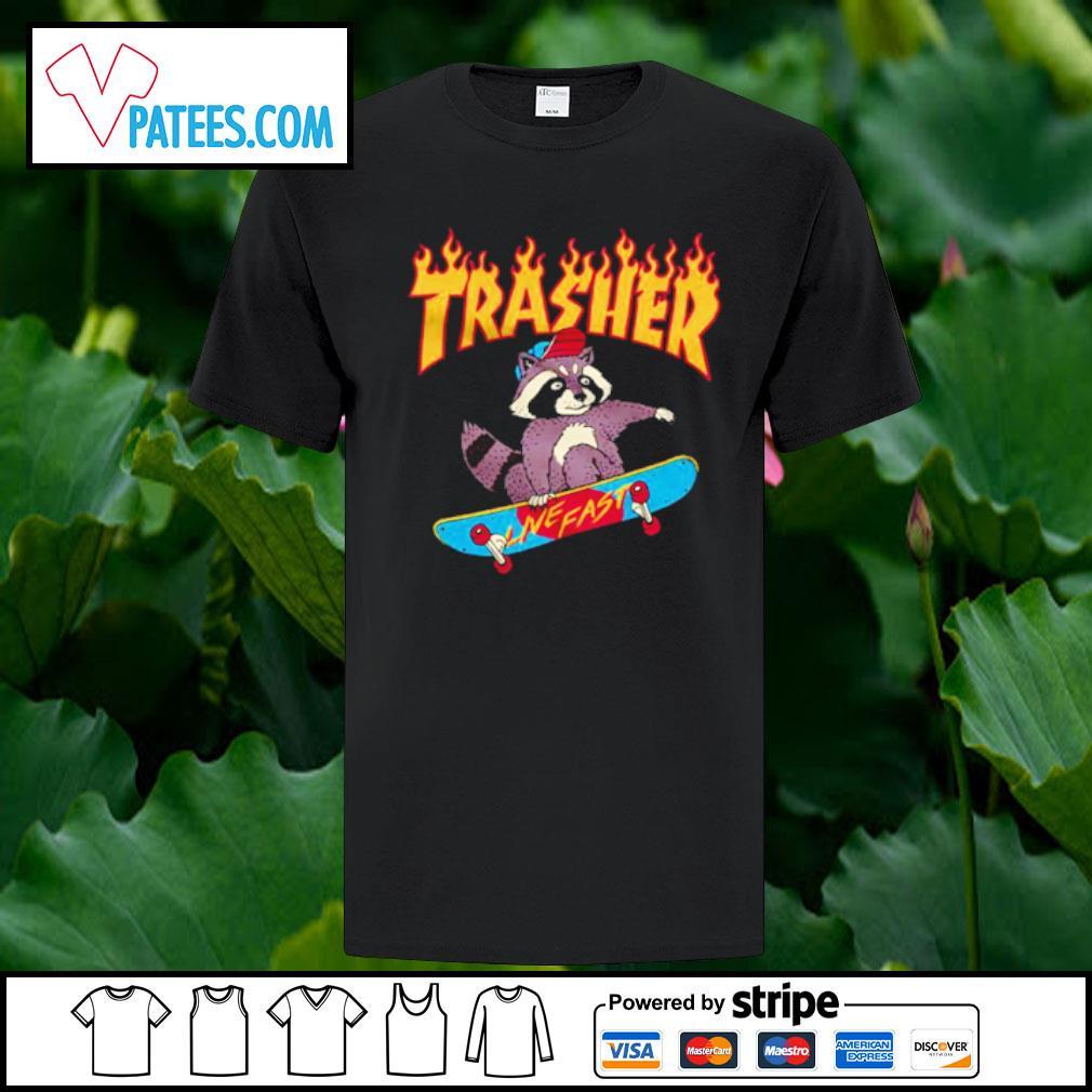 Raccoon Trash live fast shirt