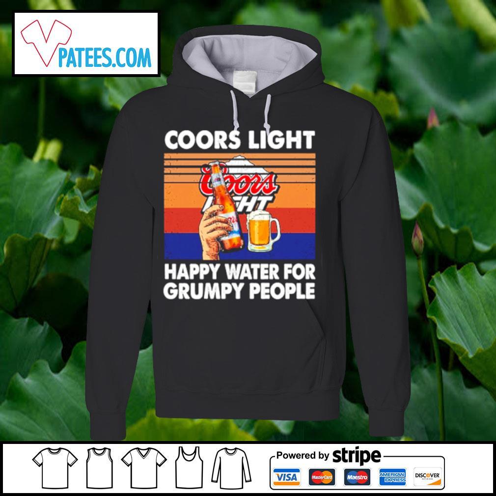 Coors Light happy water for grumpy people vintage s hoodie