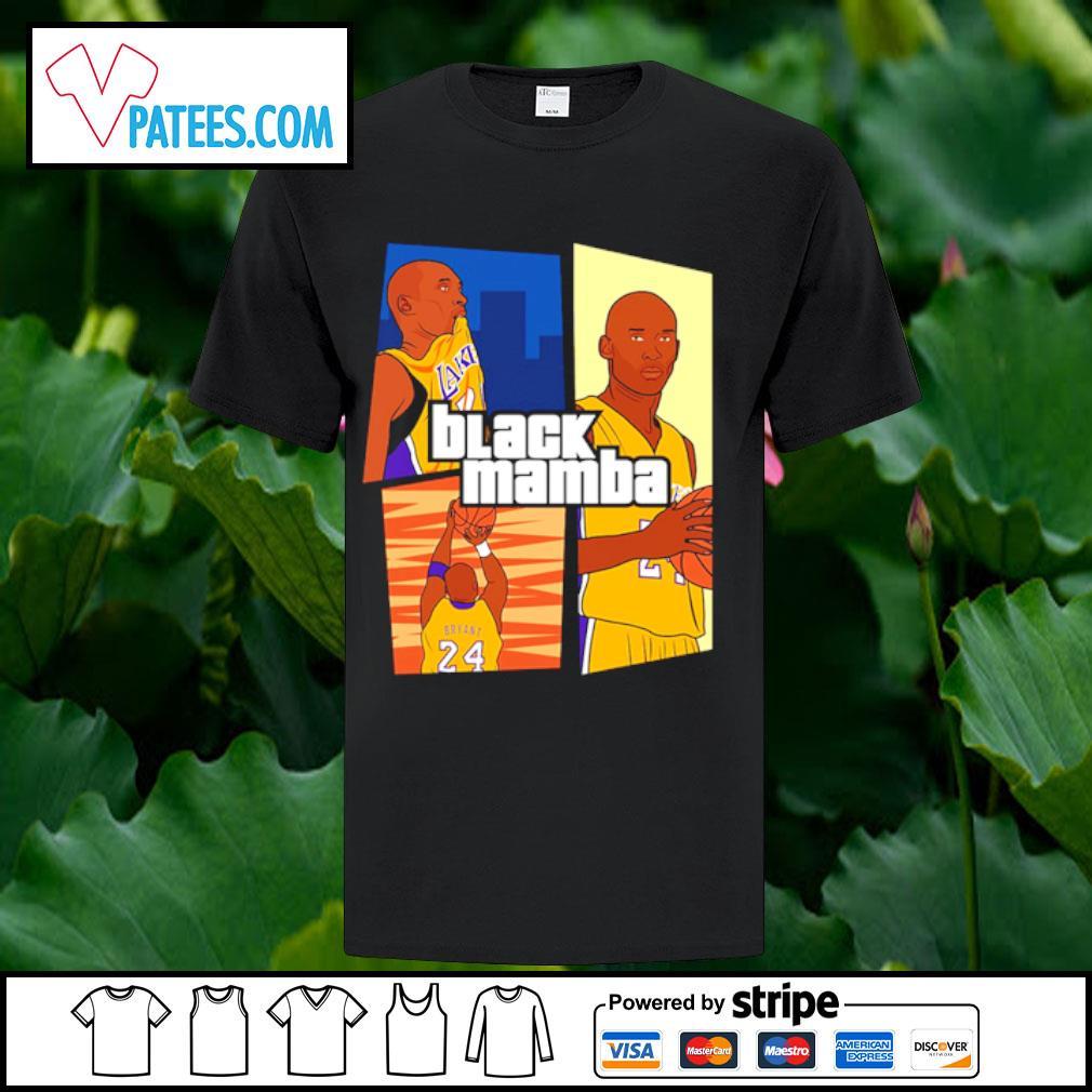 Kobe Bryant 24 Laker black mamba shirt