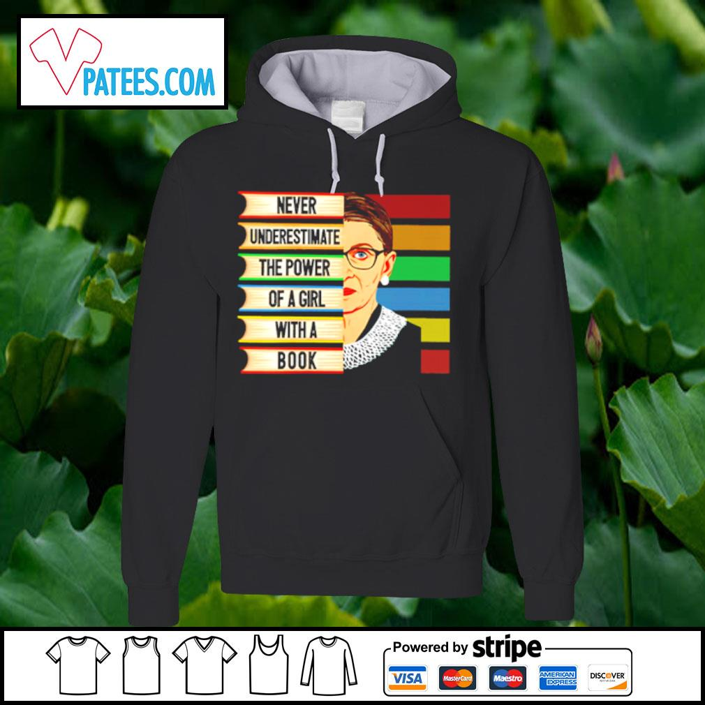 Official Ruth Bader Ginsburg never underestimate the power of a girl with a book s hoodie