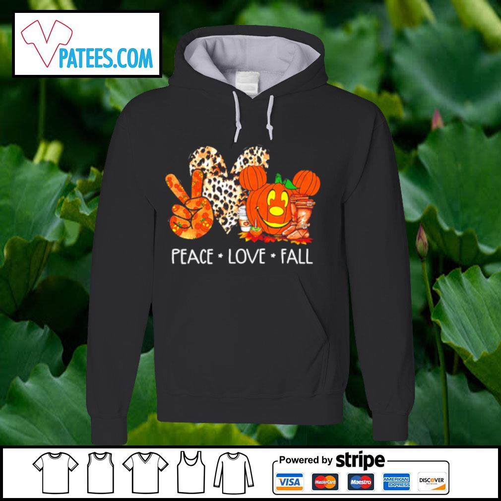 Peace love fall pumpkin halloween s hoodie
