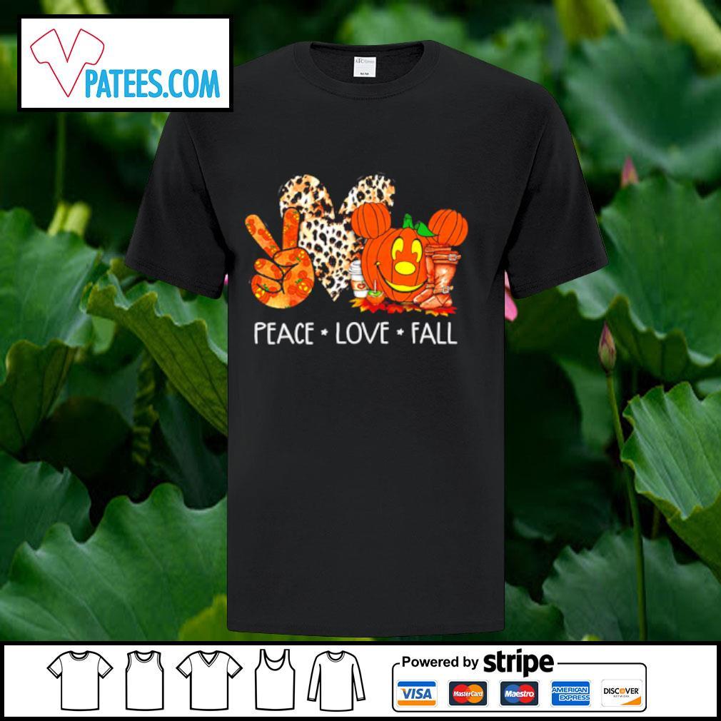 Peace love fall pumpkin halloween shirt