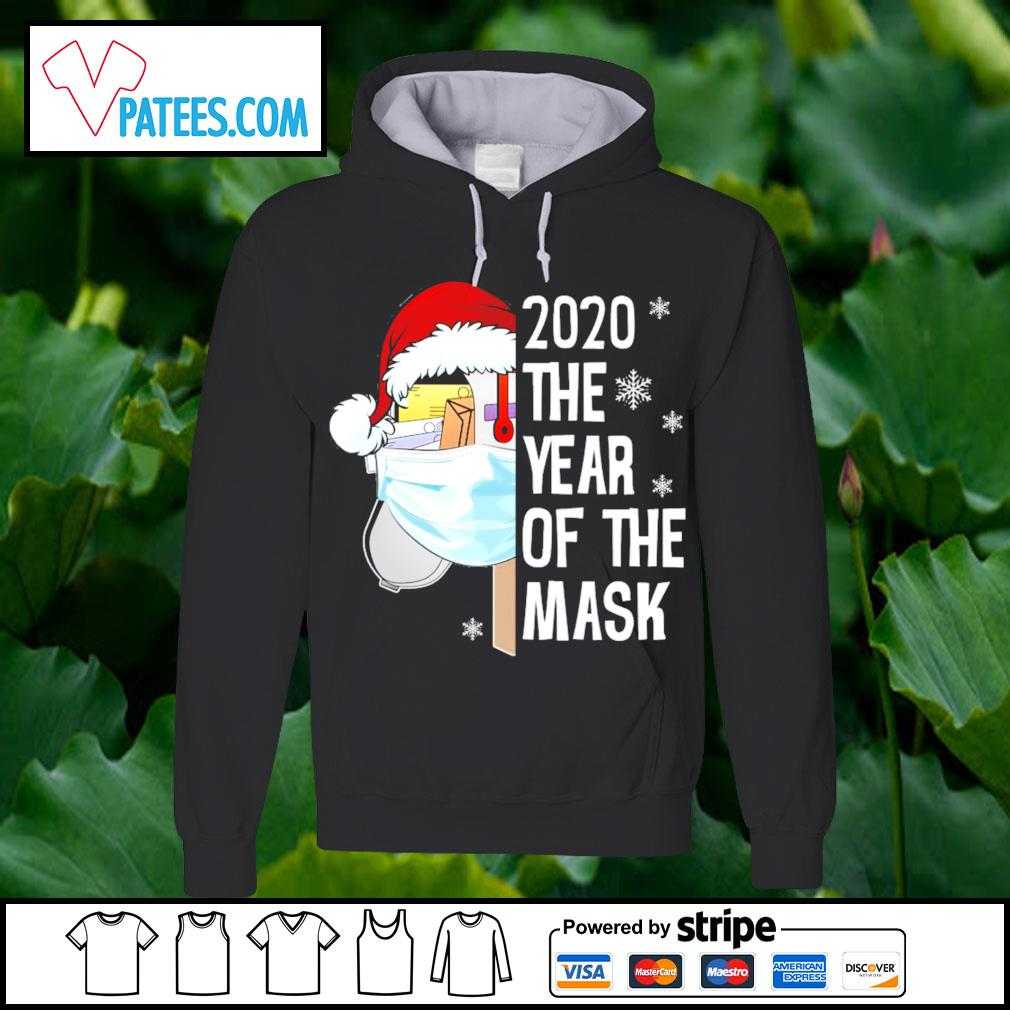 Santa 2020 the year of the mask Christmas s hoodie