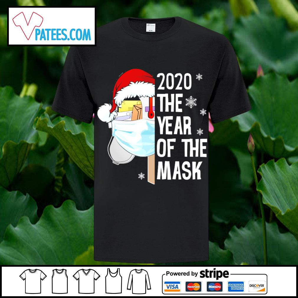 Santa 2020 the year of the mask Christmas shirt