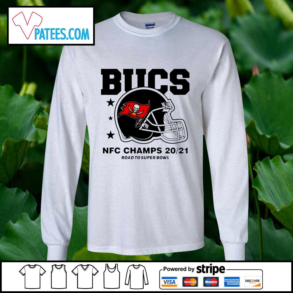 Tampa Bay Buccaneers NFC Champs road to super bowl 2021 t-s longsleeve-tee