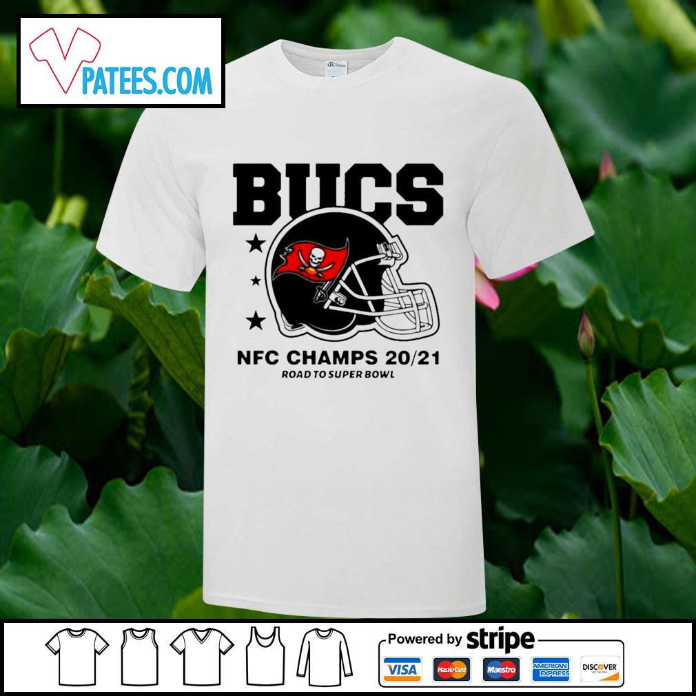 Tampa Bay Buccaneers NFC Champs road to super bowl 2021 t-shirt