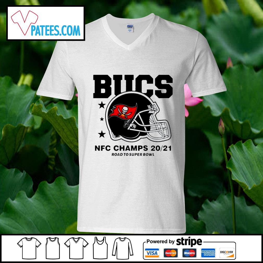 Tampa Bay Buccaneers NFC Champs road to super bowl 2021 t-s v-neck t-shirt